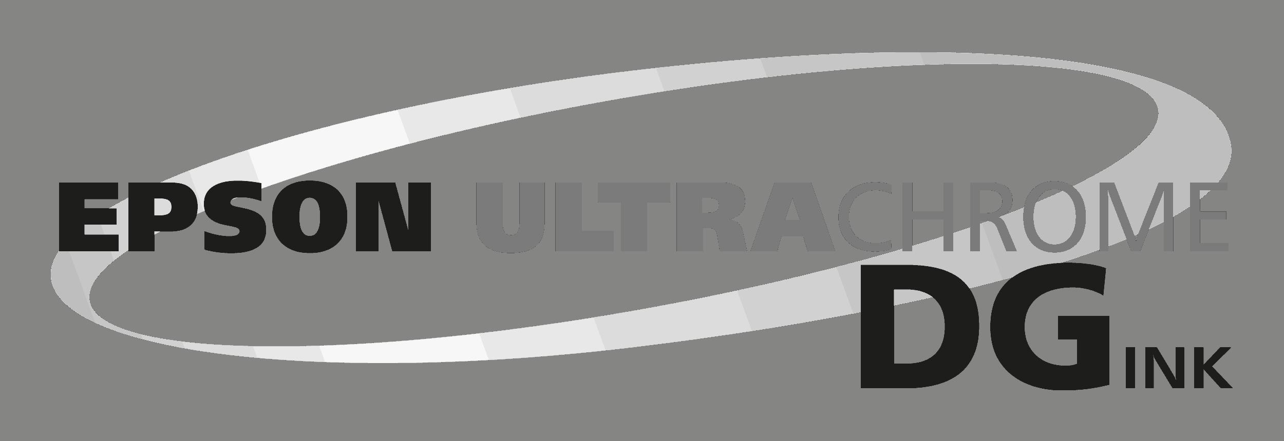 Epson Logo Ultrachrome DG withe monochrome